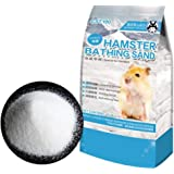 Hamster Bathing Sand,Gerbil Powder Grooming Sand for Tiny Friends Farm Chinchilla Dust Bath Potty Litter Sand (2LB) (Hamster Sand) (Hamster Bath Sand Dust(A))