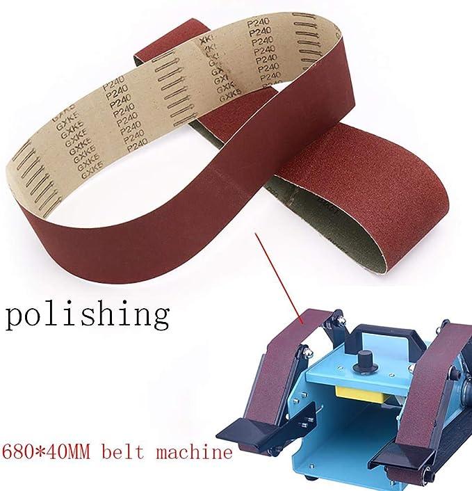 1pc rectifiant et polissant la courroie abrasive de rechange 80-400 courroies de pon/çage de papier abrasif pour la machine de meuleuse angulaire 80