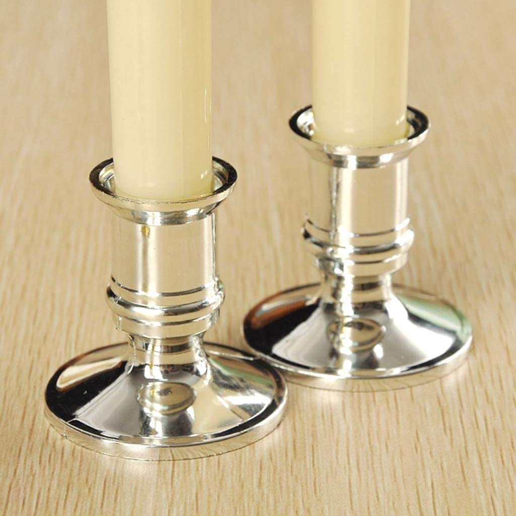 2pcs Plastic Candle Base Holder Pillar Candlestick Stand Party Home Decor