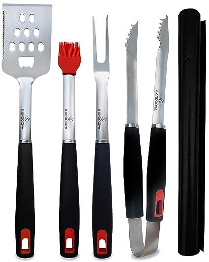 Amazon.com: KANDOONA - Juego de utensilios para parrilla ...