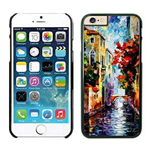 linJUN FENGAwesome Iphone 6 Case 4.7 Inches, Graceful Painting Venice Black Soft Rubber Phone Case Cover for Iphone 6