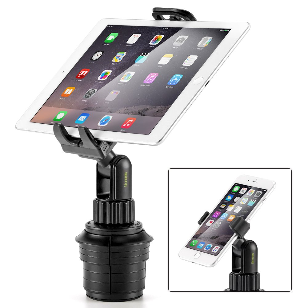 Amazon.com: iKross Smartphone / Tablet Cup Mount Holder Car Cradle Kit - Black (Cup mount arm length 5.5 inches): Cell Phones & Accessories