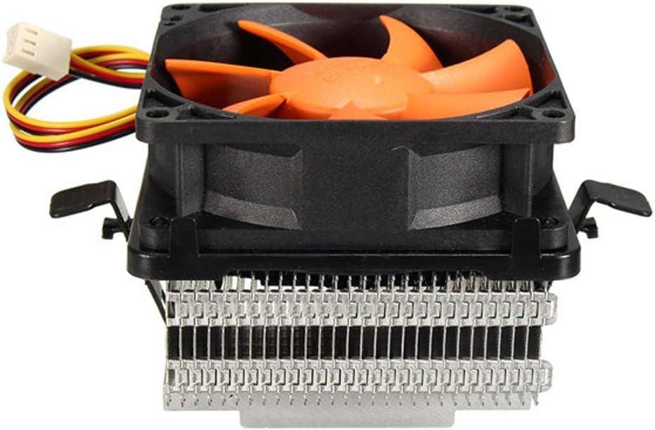 Color : Orange, Size : One Size Wagsuyun Cooling Cabinet Fan 80mm Quiet CPU Cooling Fan Heat Sink Compatible with Intel GA775 LGA1156X LGA1155 AMD AM2//2 AM3