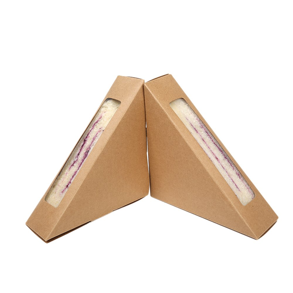 50 Pieces of Small Craft Sandwich Holder with Display Window