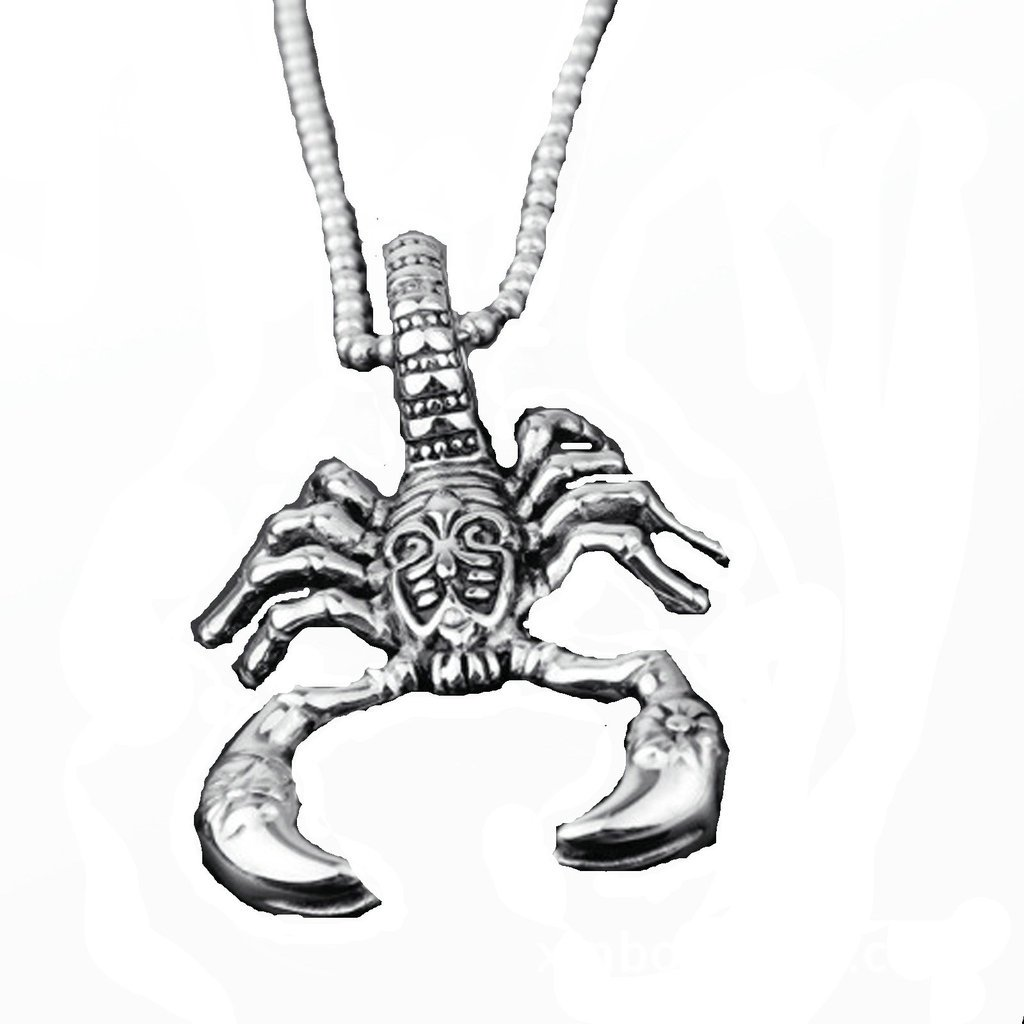AMDXD Jewelry Stainless Steel Necklaces for Boys Punk Necklace for Men Punk Style Pendant