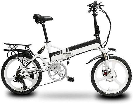 RXRENXIA Bicicleta Eléctrica, Marco De Aleación De Aluminio De La ...