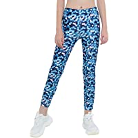 iixpin Leggings Estampados para Niña Pantalónes Ajustados Deportivos de De Gimnasia Yoga Mallas Elásticas Capri Niña de…