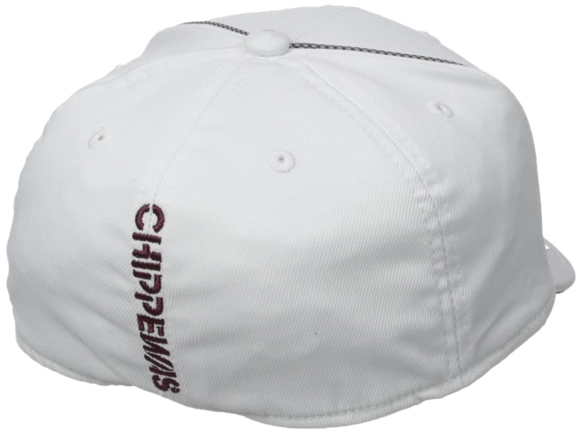 Large//X-Large NCAA Central Michigan Chippewas Adult Men Coachs Structured Flex White