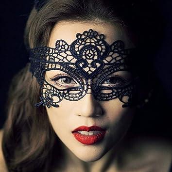 sélectionner pour l'original prix le plus bas vente en magasin Demarkt 1pcs En Dentelle Noire Sexy Masque Masque de Dentelle Noir pour les  Yeux pour Mascarade Fête Costumée