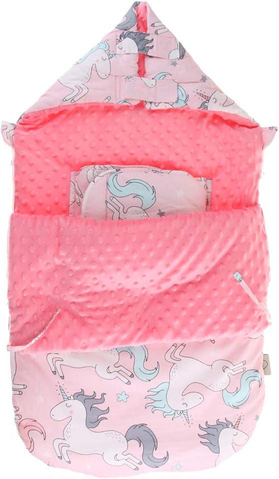 A IPOTCH Beb/é Infantil Reci/én Nacido Saco de Dormir de Dibujos Animados Manta Caliente