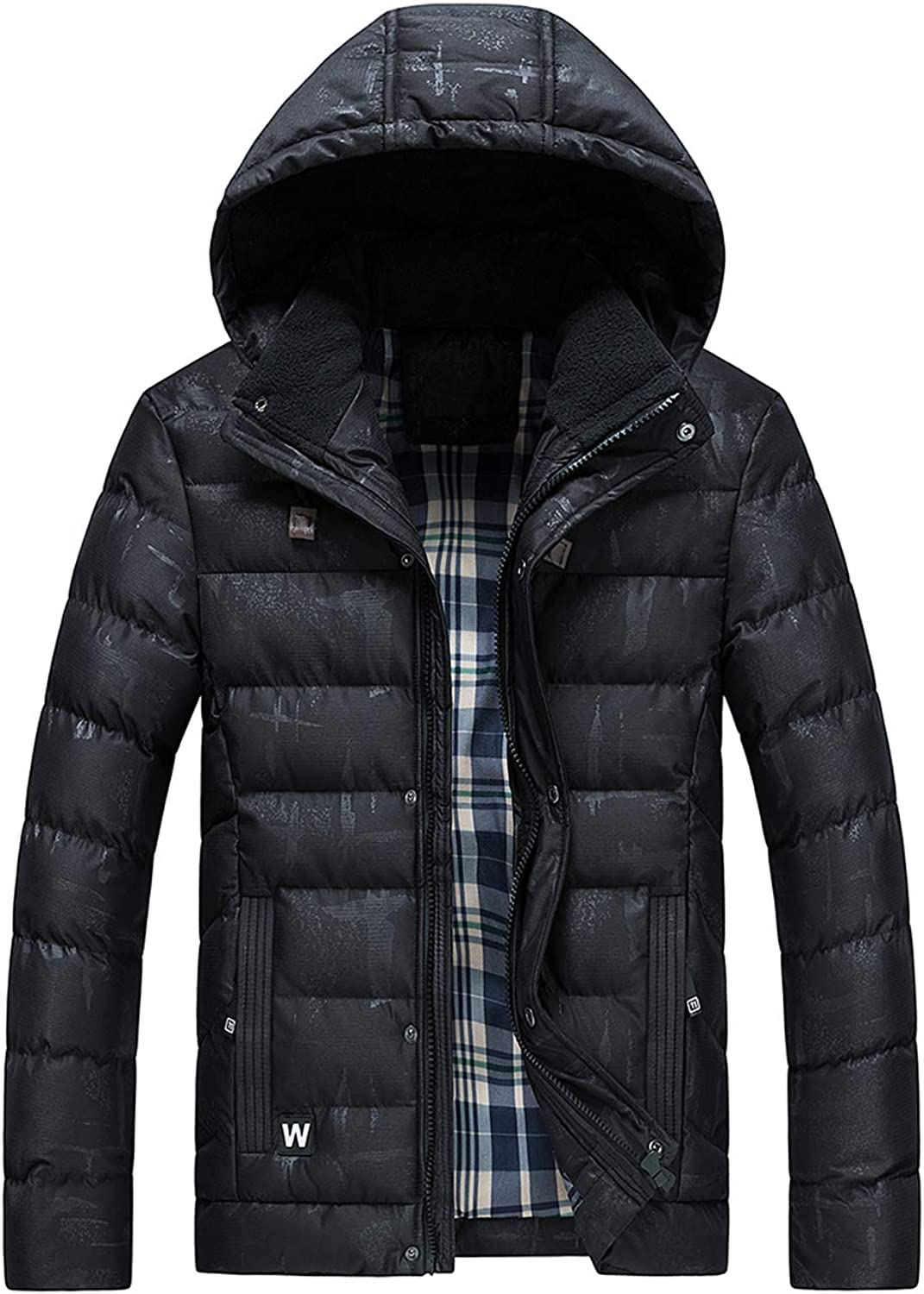 Ivnfout Mens Classic Hooded Puffer Jacket