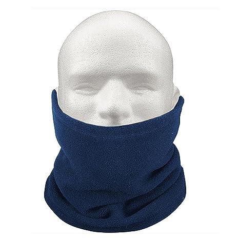TOOGOO(R) 3-IN-1 Sciarpa scaldacollo cappello di vello unisex termica Sci  Snowboard - blu 6ba90f3d9022