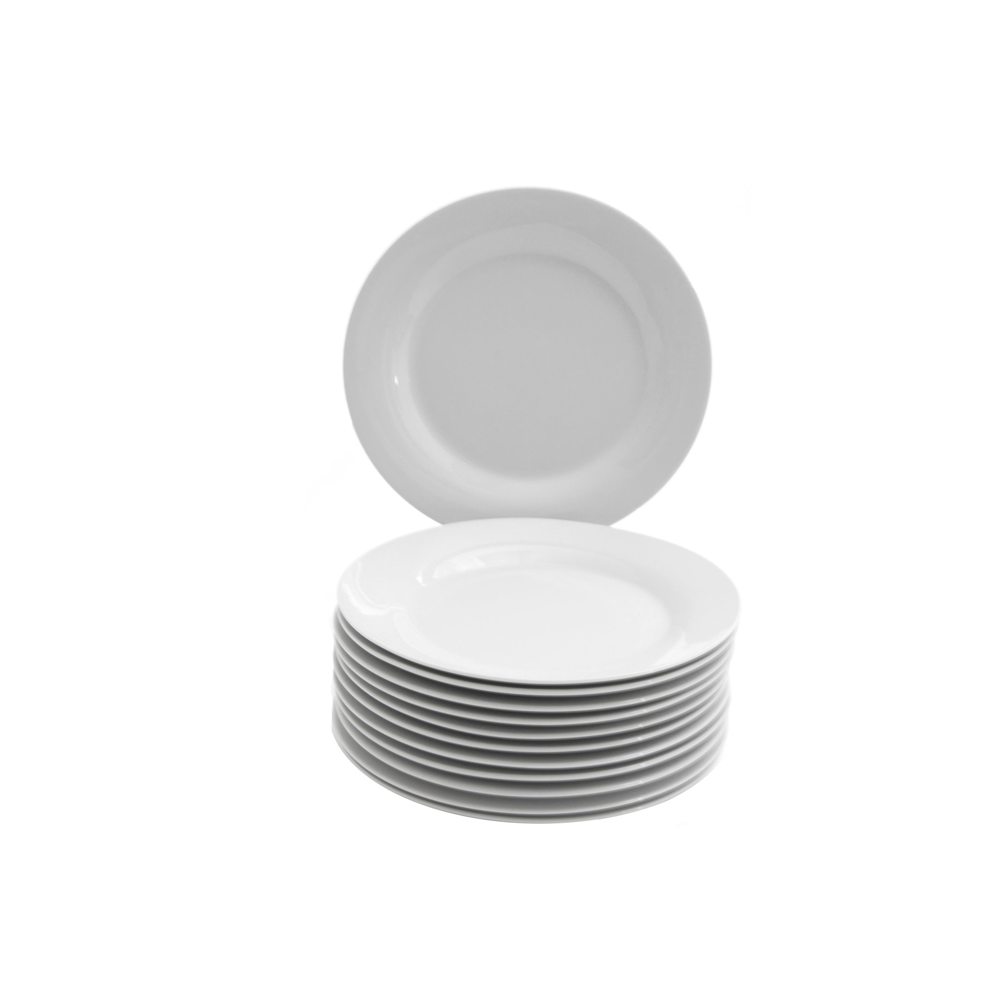 10 Strawberry Street Catering Set 7-1/2-Inch Salad/Dessert Plate, Set of 12