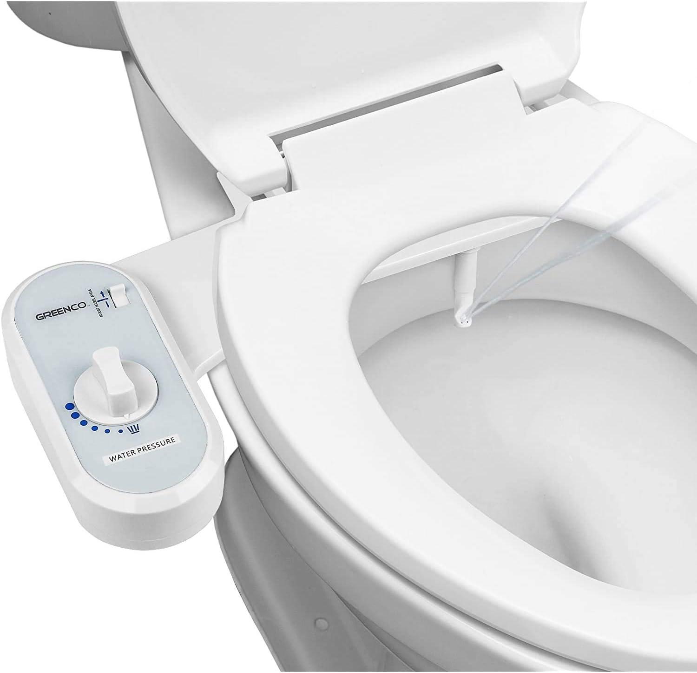 Toilet Seat Attachment Bidet Fresh Water Spray Non-Electric Mechanical Bidet