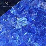 Blue Ridge Brand™ Sky Blue Fire Glass - 50-Pound Professional Grade Fire Pit Glass - 1/2'' Fire Glass Bulk Pack - Glass Rock Contractor Pack