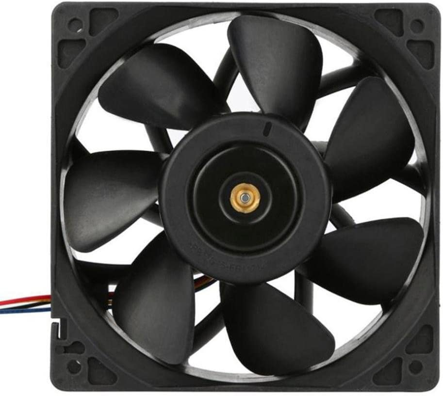 120x120x3.8mm Black 2 Pack Cooling Fan For Antminer Bitmain S7 S9 Gotd 6000RPM 4-pin Connector Replacement Cooling Pad Cooler