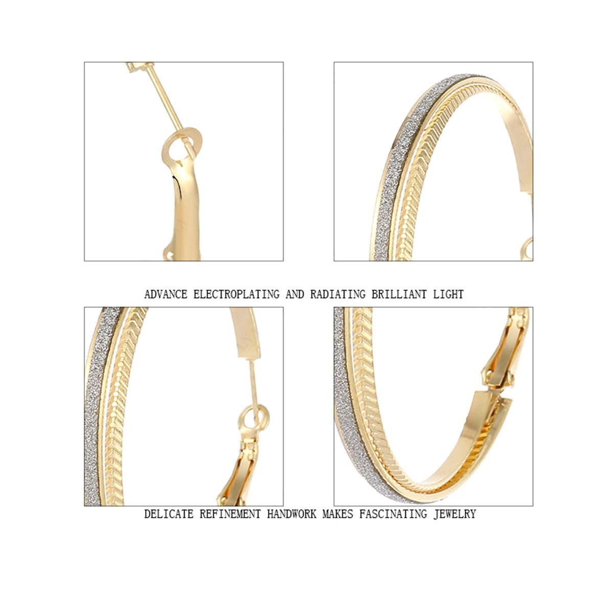 x 0.27 Clicktop Findings IDB Sparkling Hoop Earrings 7mm 50mm Available in Silver Gold Tones 1.96