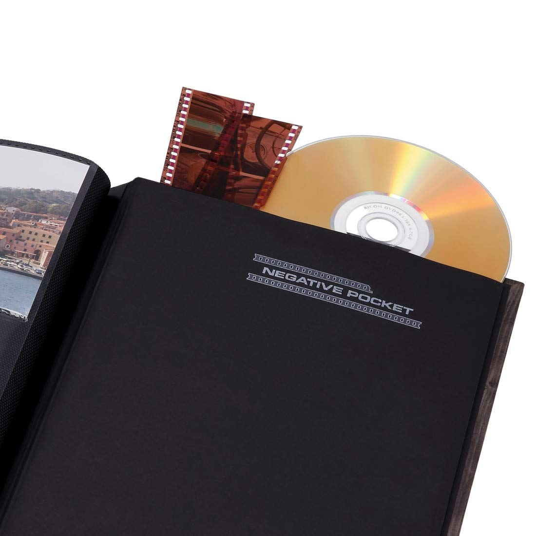 Memo Album with 100 Black Pages Hama Batzi Slip-In Photo Album for Inserting 200 Photos in 10 x 15 cm Format Teddy Bear Motif 19 x 25 cm CD Pocket