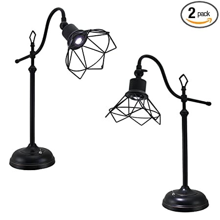 2 Tensor Led Office Desk Lamps Adjustable Wire Head Industrial