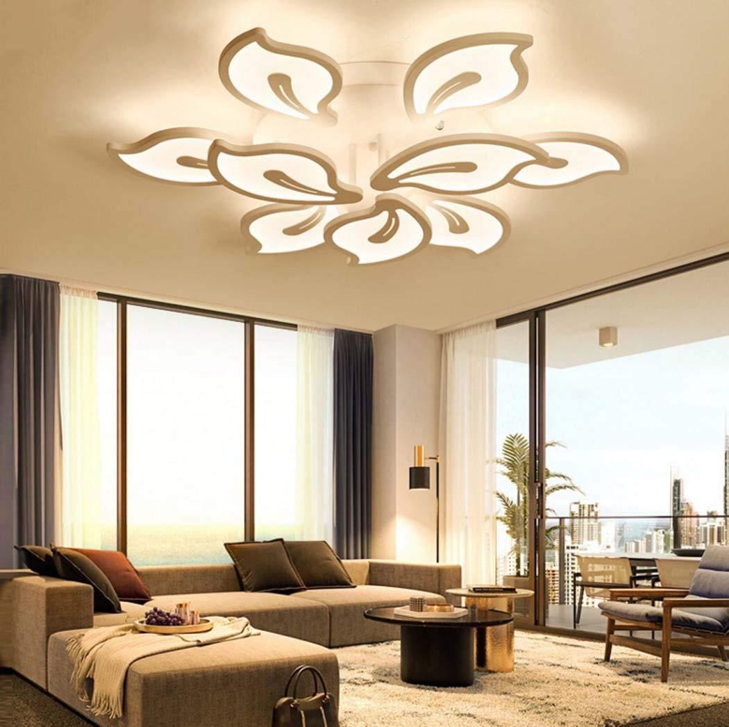 寝室用LEDシャンデリア照明現代アクリルLEDは天井灯を引込めましたリビングルームの研究用シーリングライト、暖かい光、54ワット(80×15センチメートル)に適して   B07SHH3QYK
