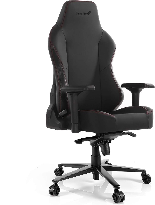 boulies Gaming Chair Office Chair Computer Desk Chair High Back Racing Chair 4D Armrest Lumbar and Head Pillow Master Carbon Black