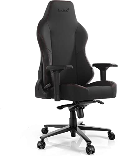 boulies Office Chair Gaming Chair Racing Style Adjustable High Back Computer Chair Leather Desk Chair with Lumbar Support and Head Pillow Master Carbon Black