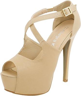Peep Toe Stiletto Platform Heels
