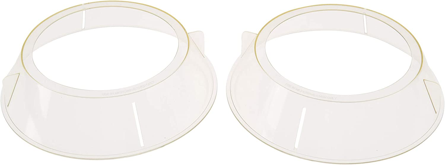 HOME-X Plastic Microwave-Safe Stacking Rings with Vents, Splatter Guard (2 Pack)