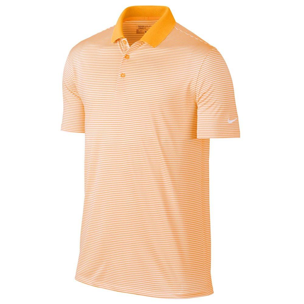Nike Victory Mini Stripe Golf Polo 2017 Laser Orange/White Small