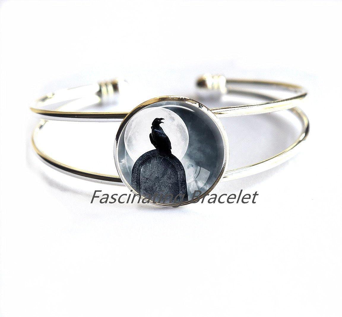 Crow Bracelet Bird Bracelets Black Bird Jewelry Animal Bracelets Raven Bracelet Bird Lover Gift Jewelry Animal,AQ116