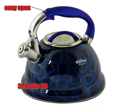 3d hervidor de agua 3.0 L acero inoxidable camping plata ...