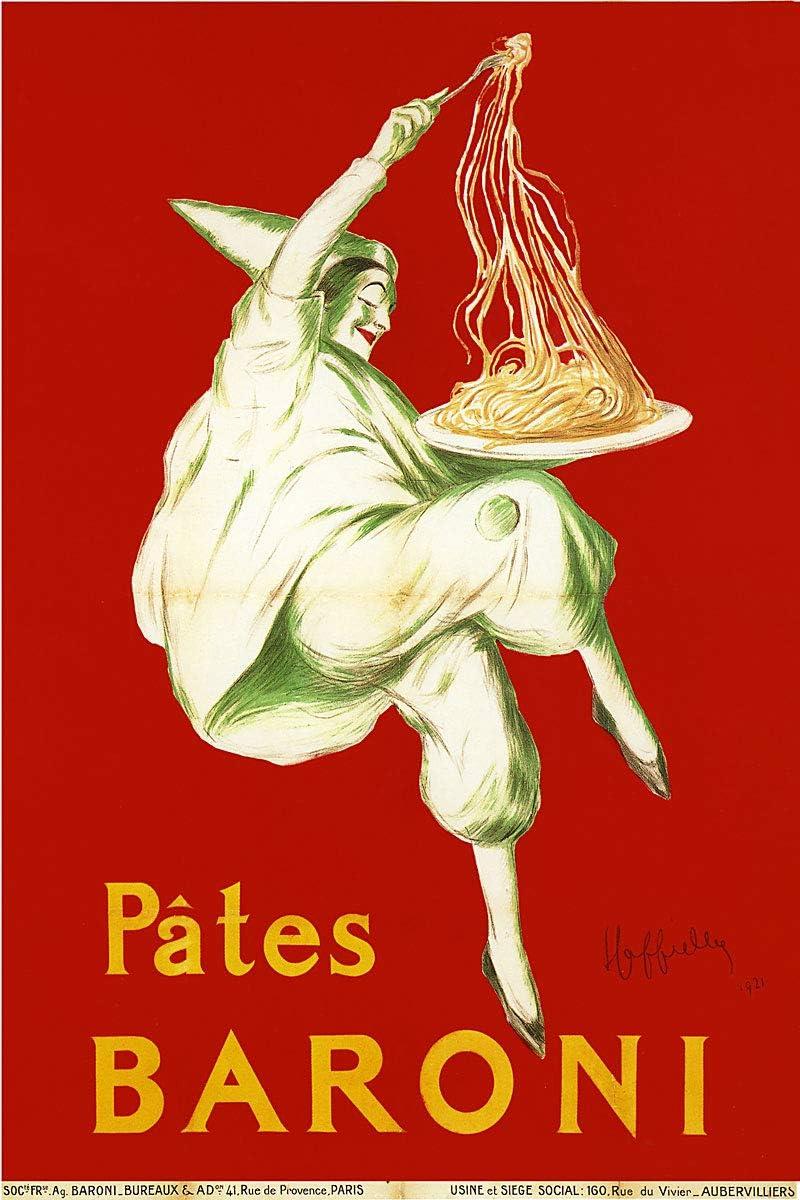 American Gift Services - Pates Baroni Artist Leonetto Cappiello Vintage Advertisement Fine Art Poster Print - 24x36