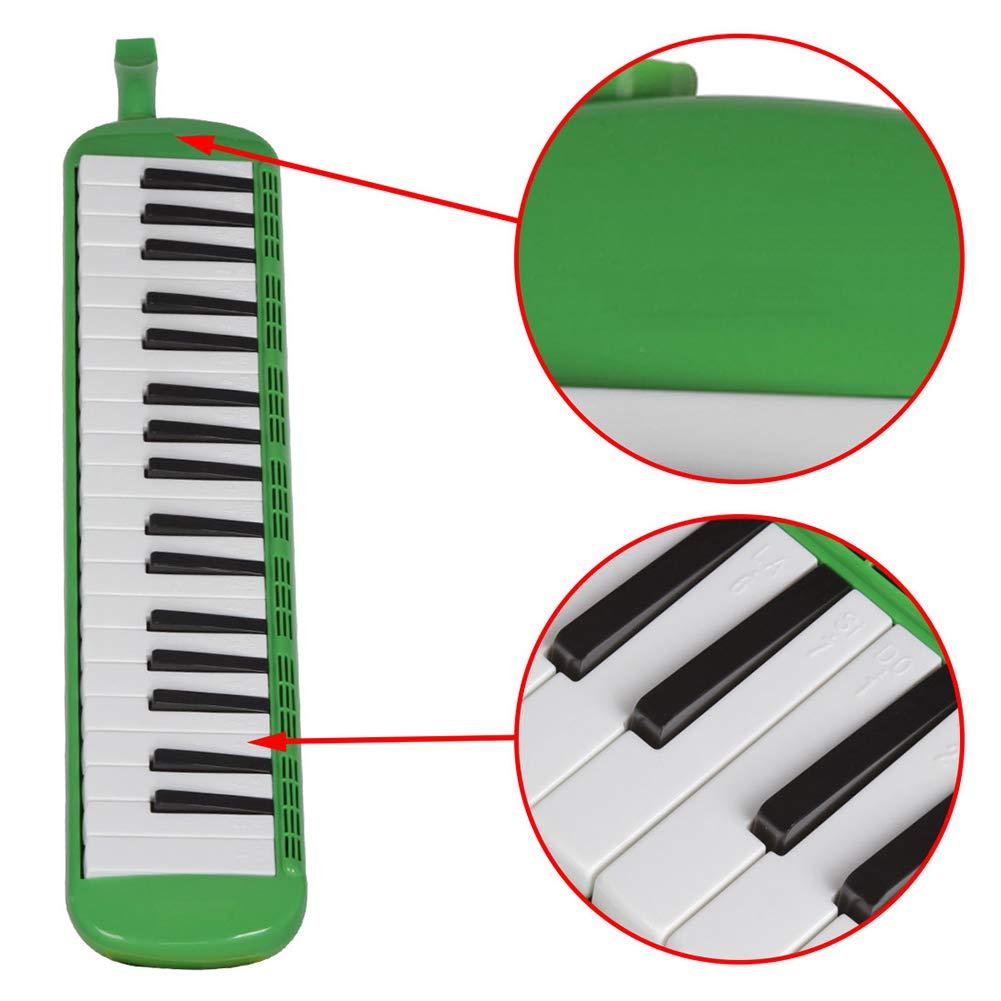 heaven2017 37 Key Melodica Kids Mouthpiece Tube Piano Keyboard Instrument Green by heaven2017 (Image #5)