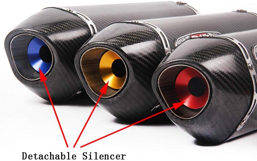embout moto universel de 51 mm pour silencieux 1357//5000 Tuyau d/échappement C argent insonorisation du suppresseur de bruit DB Killer