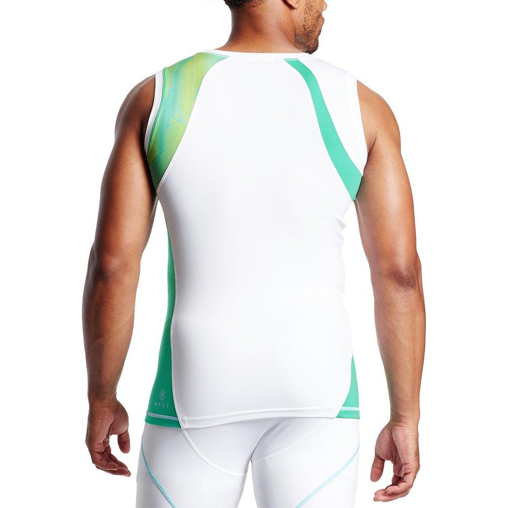 Maze Aqua Yellow//White Mission X Wade Collection Mens Sleeveless Compression Shirt XX-Large Mission Athlete Care WA09