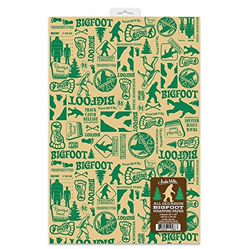 Accoutrements All Occasion Bigfoot Wrapping Paper