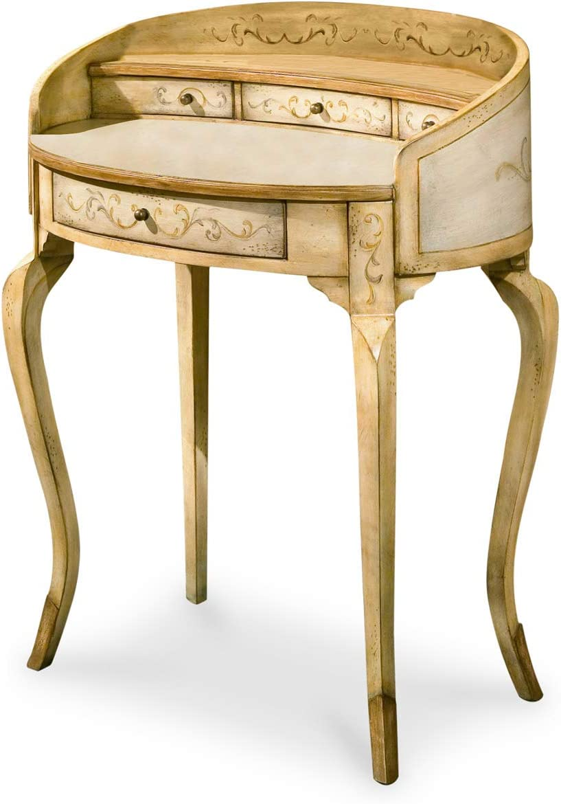 BUTLER DAMOSEL TUSCAN CREAM HAND PAINTED LADIES WRITING DESK