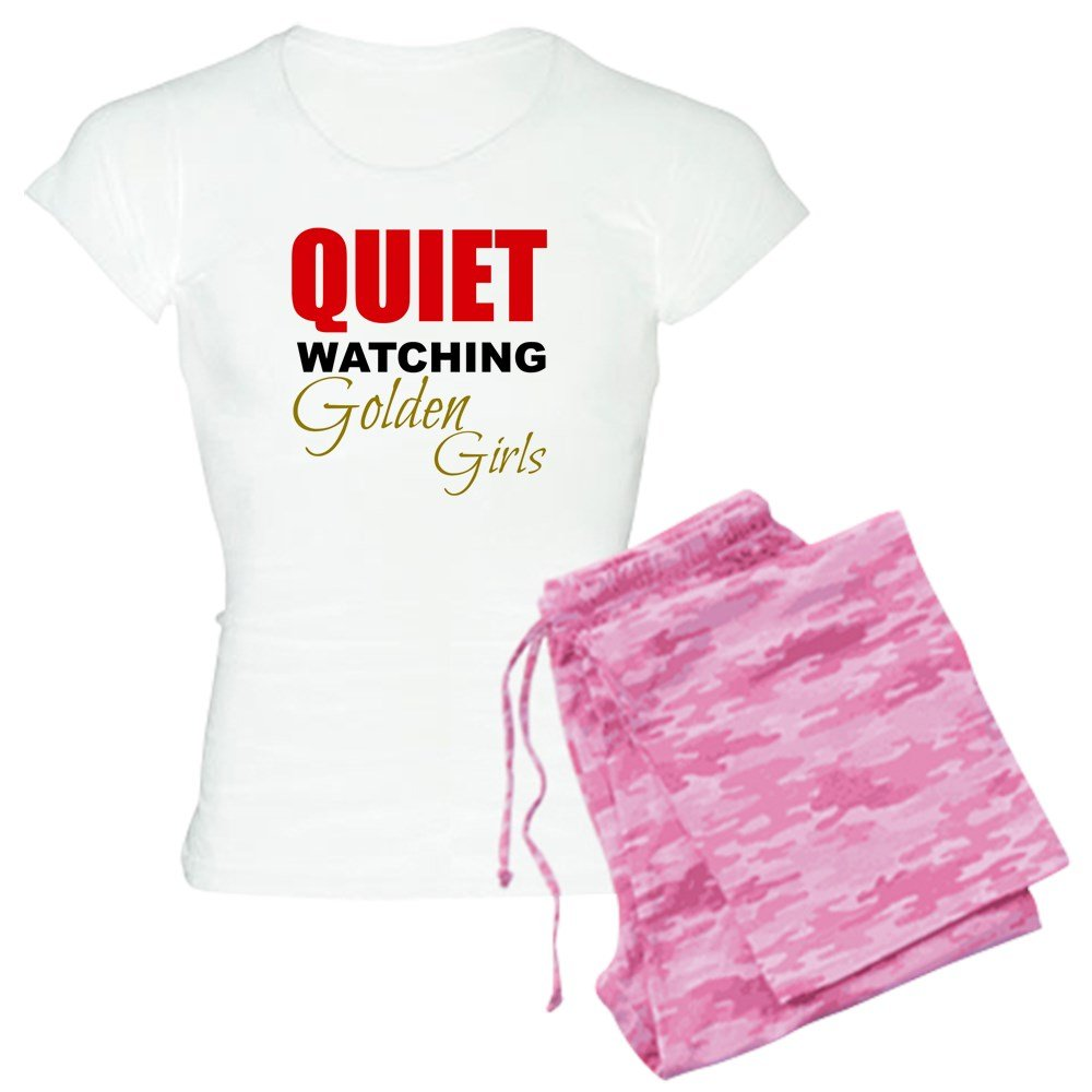Amazon.com: CafePress Quiet Watching Golden Girls Pajamas - Womens Novelty Cotton Pajama Set, Comfortable PJ Sleepwear: Clothing