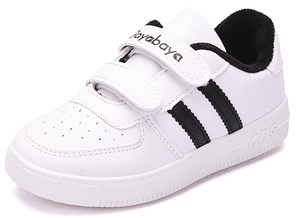 SFNLD InStar Kids Fleeced Hook and Loop Antiskid Sneakers Shoes