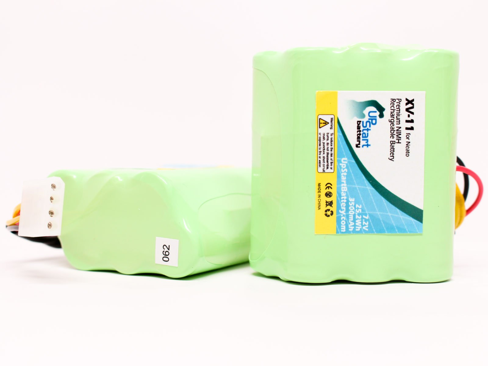 2x Pack - Neato XV-14 Battery - Replacement for Neato Robotic Vacuum Cleaner Battery - Compatible w/Neato XV-11, XV-12, 945-004, XV-15, XV-21, XV-25, 945-0048, XV Signature Pro (3500mAh, 7.2V, NI-MH)