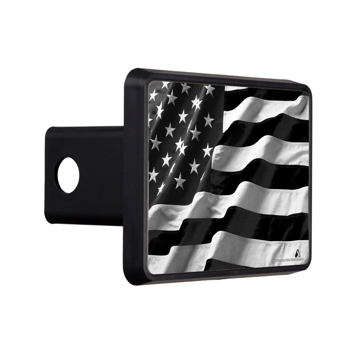 United States Tow Hitch Cover 25-746 Airstrike American Black Flag Trailer Hitch Cover USA Trailer Hitch Cover