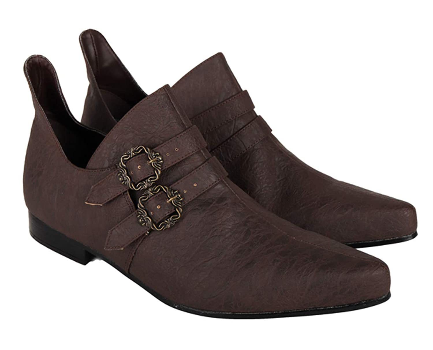 Renaissance Shoes Faire Short Boot Suede Adult Halloween Costume Shoes 2 COLORS