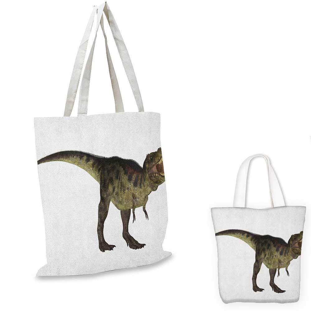 Roaring Rex の恐竜イメージ リアルな歴史的な動物 鋭い歯 アーミーグリーン スカーレット タン付き 12