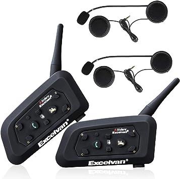 Excelvan V6 2 X Bluetooth Motorrad Intercom Headset Elektronik