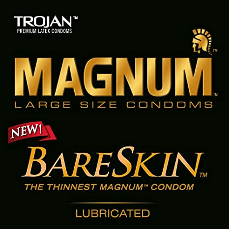 Amazon.com: Trojan Magnum Bareskin Lubricated Condoms, 10 Count ...