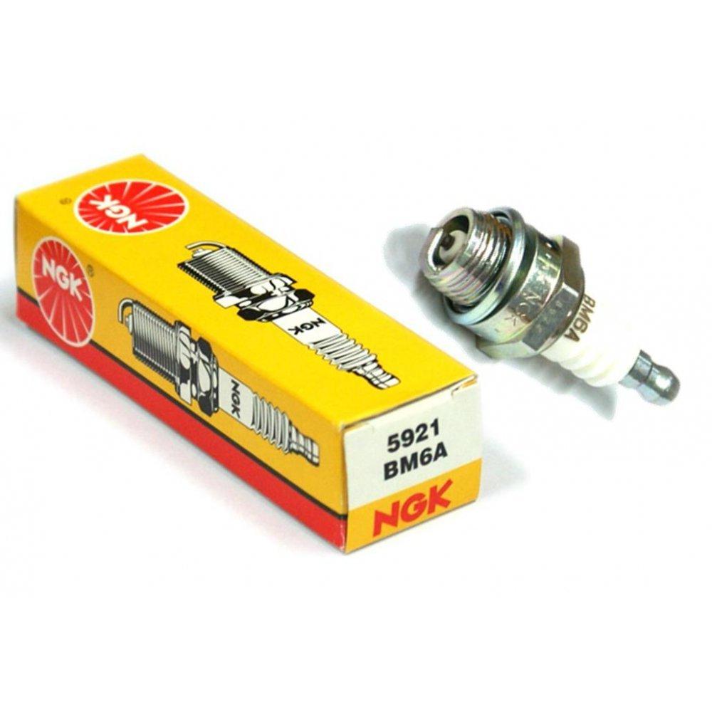 NGK 10 BM6A - Bujía 1521 Champion CJ8 o Bosch WS8E Equivalente CS/SP107: Amazon.es: Coche y moto