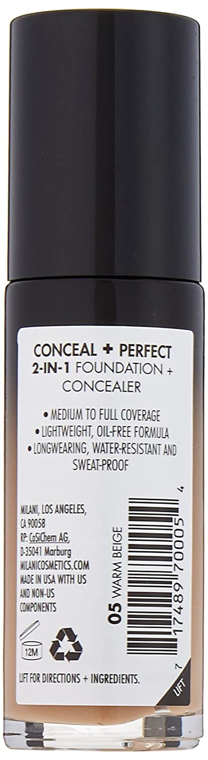 Amazon.com : Milani Conceal + Perfect 2-in-1 Foundation Concealer ...