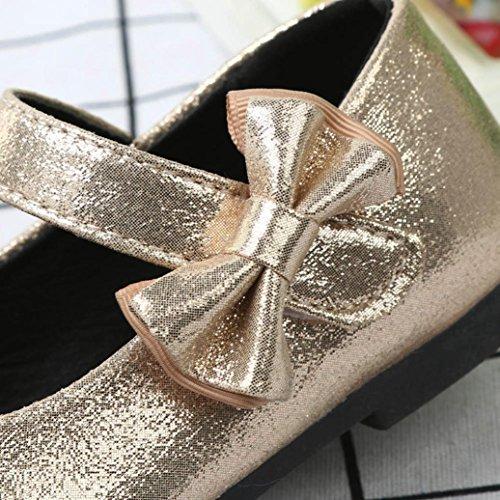 Kinder Flache Royal Kleinkind Gold Bowknot Temperament Schuhe IGEMY Casual Ballerina Baby Prinzessin fz7wwqE