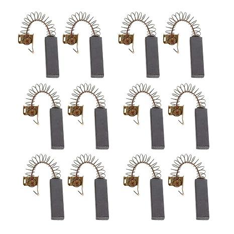 Homyl 12 Pieza Partes de Secador Pelo con Escobillas Carbón Motores Limpieza de mascotas