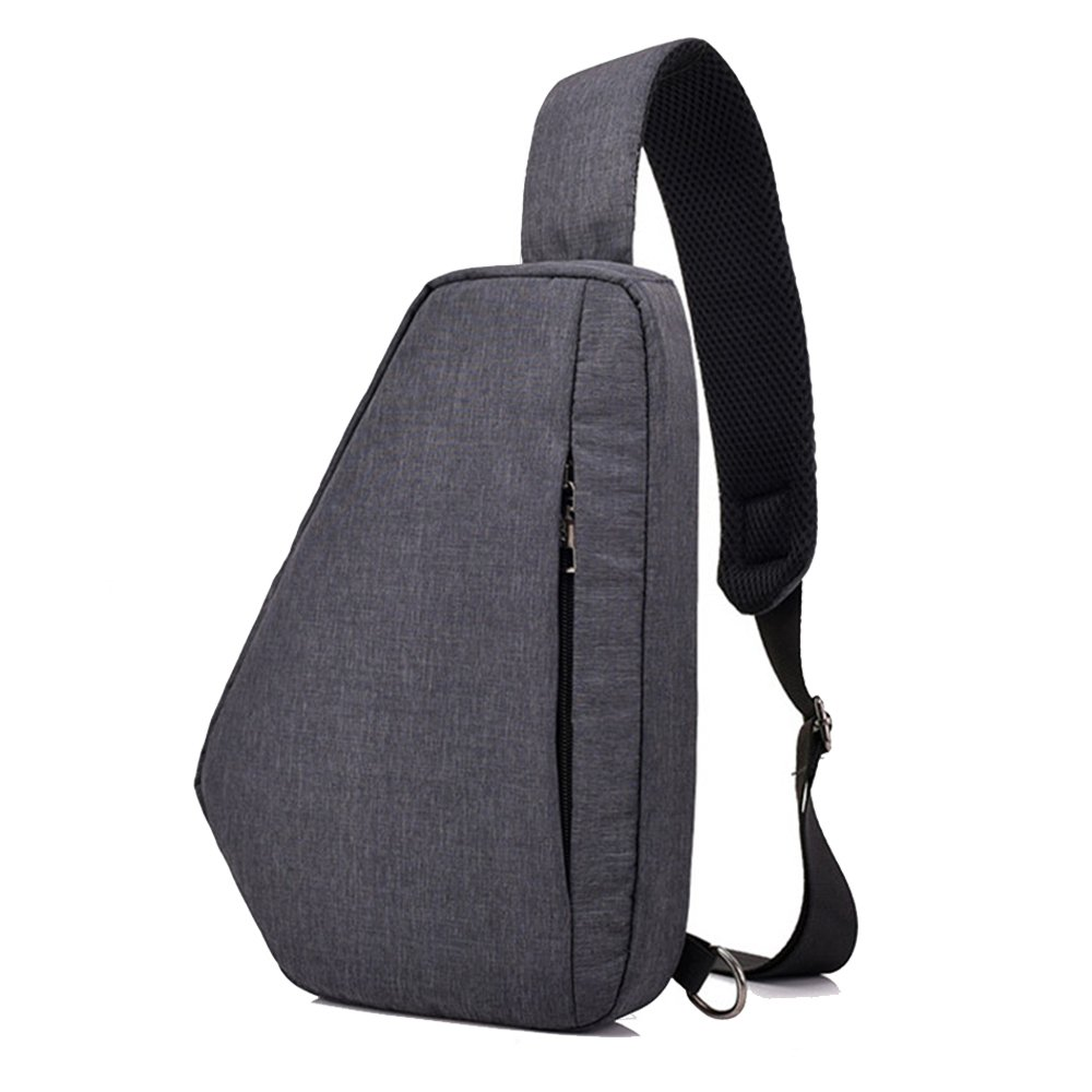 Sac Poitrine SINOKAL Sac Bandouliere Poitrine Casual bandoulière épaule triangle packs sacs pour les hommes femmes Canvas sacs photo numérique avec pour le sport en plein air gym voyage randonnée sling bag537-grey
